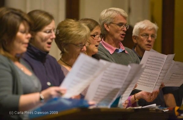 Rehearsal at St Peters, St Albans – Sept 2009