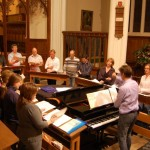 Rehearsal at St Peters, St Albans - Sept 2009